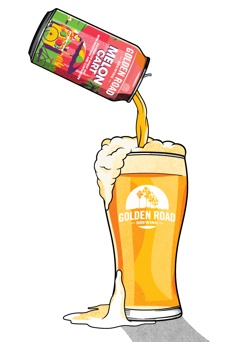 Illustrated Can + Glass —  PNG, PDF, AI