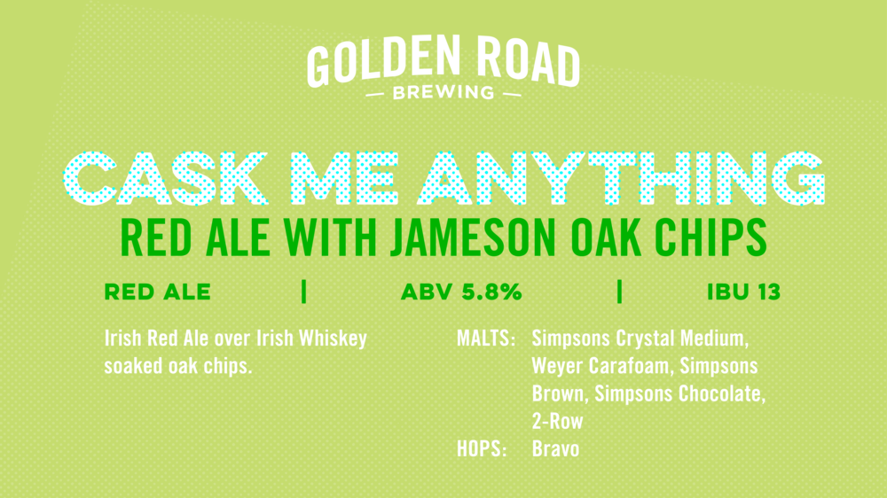Red Ale with Jameson Oak Chips TV Slide —   PNG