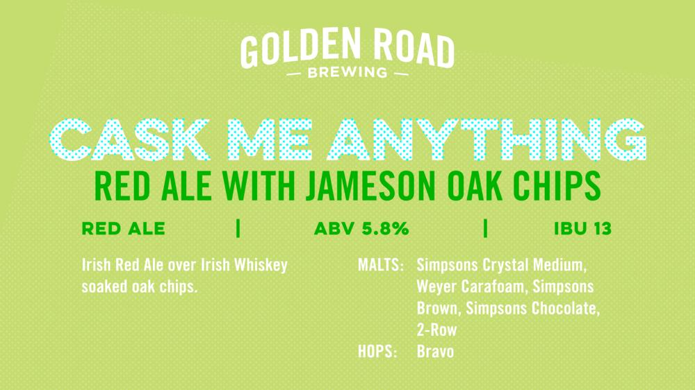 Red Ale with Jameson Oak Chips TV Slide —   PNG