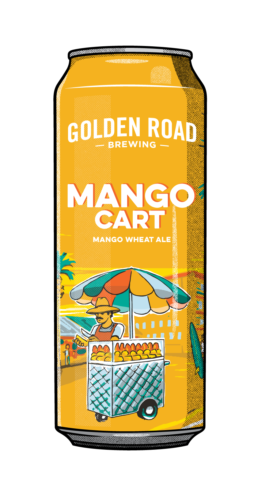 Illustrated Mango Cart 25 Oz Can —  AI,  PNG