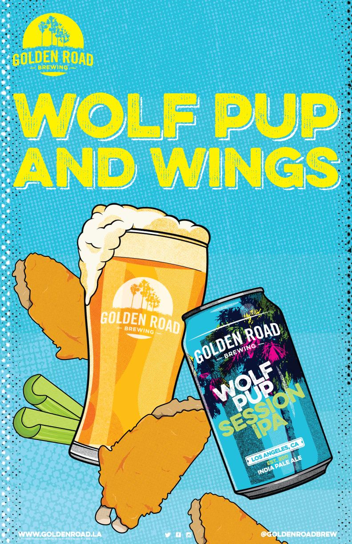 Wolf Pup Poster 11 x 17 —   AI ,  PDF