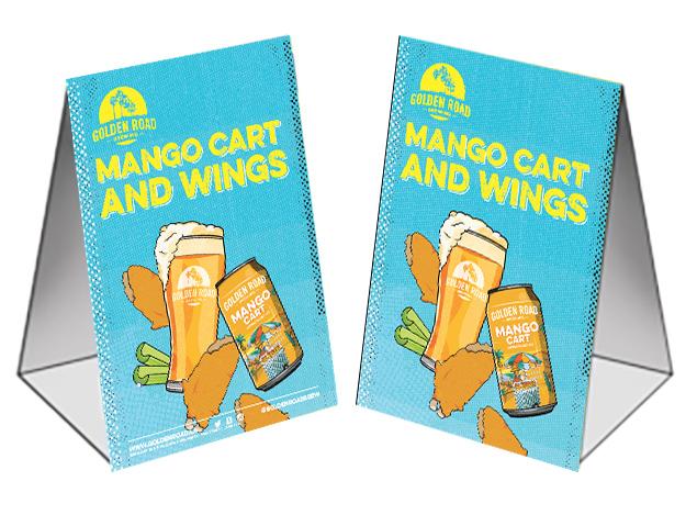 Mango Cart Table Tent 4 x 6 —   AI ,  PDF