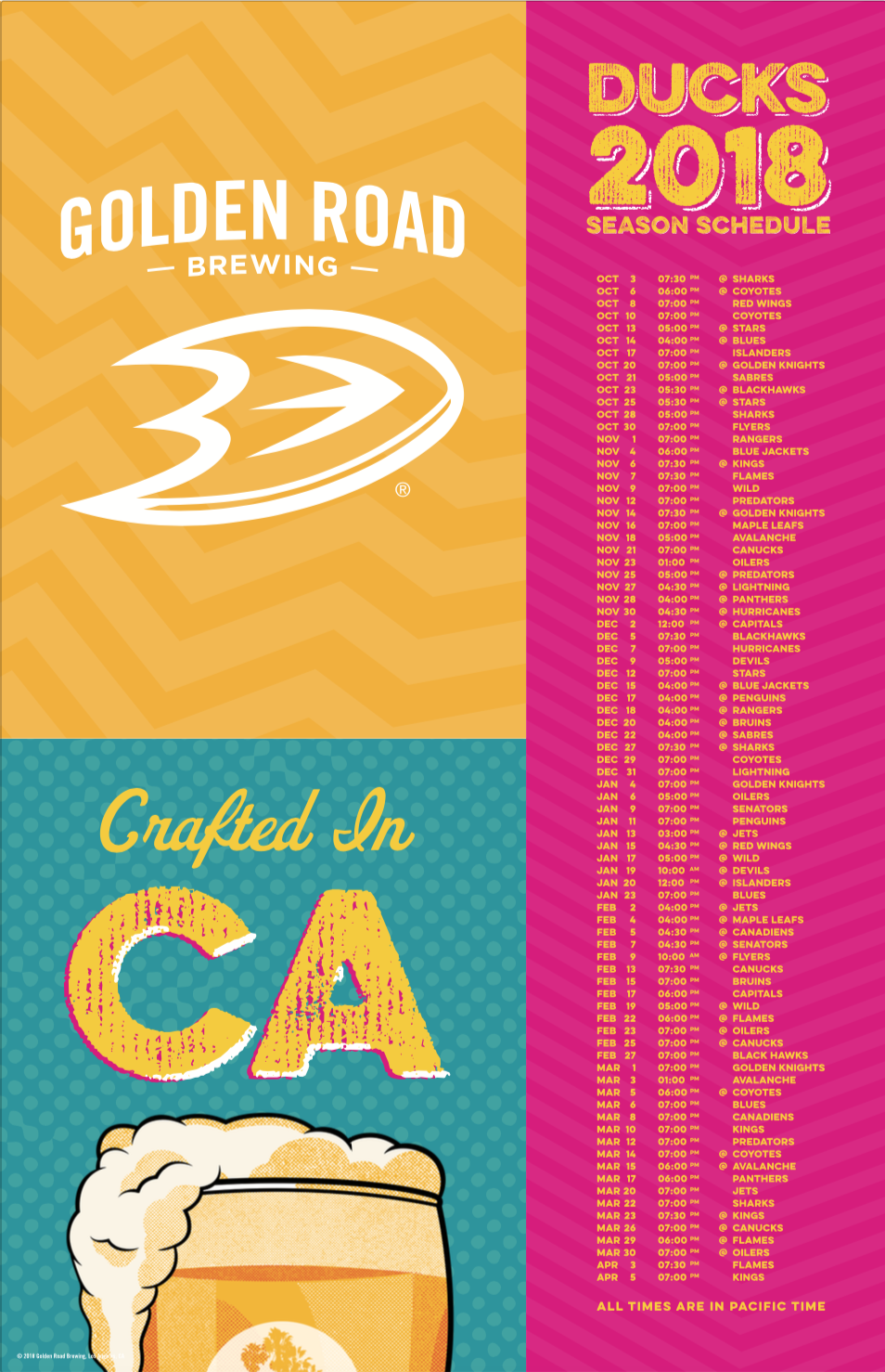 Schedule Poster 2' x 3' —   PDF