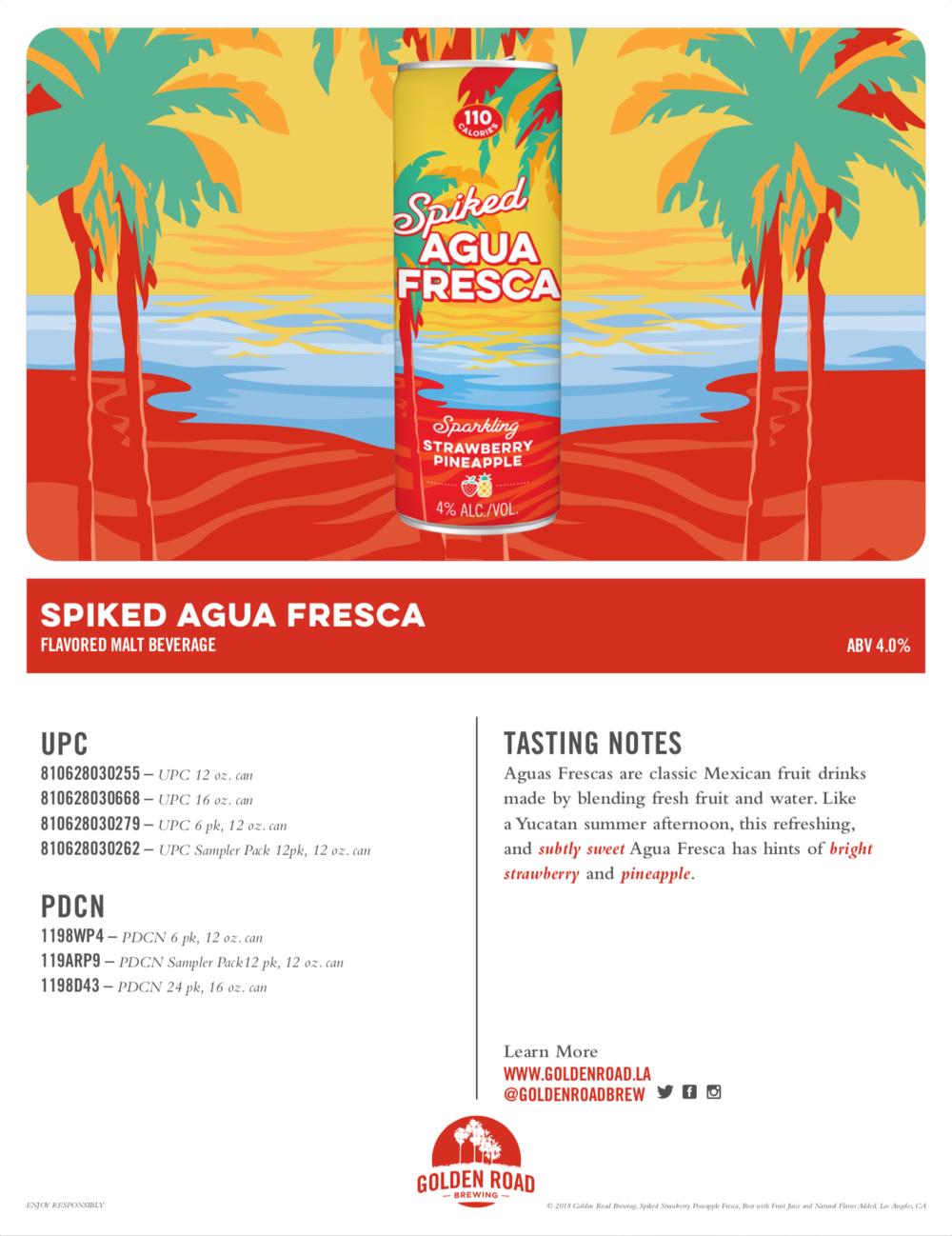 Strawberry Pineapple Sell Sheet —   PDF