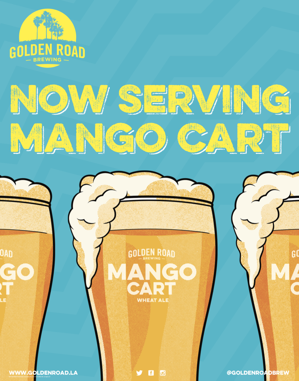Now Serving Mango Cart Poster 22x28 —   PDF