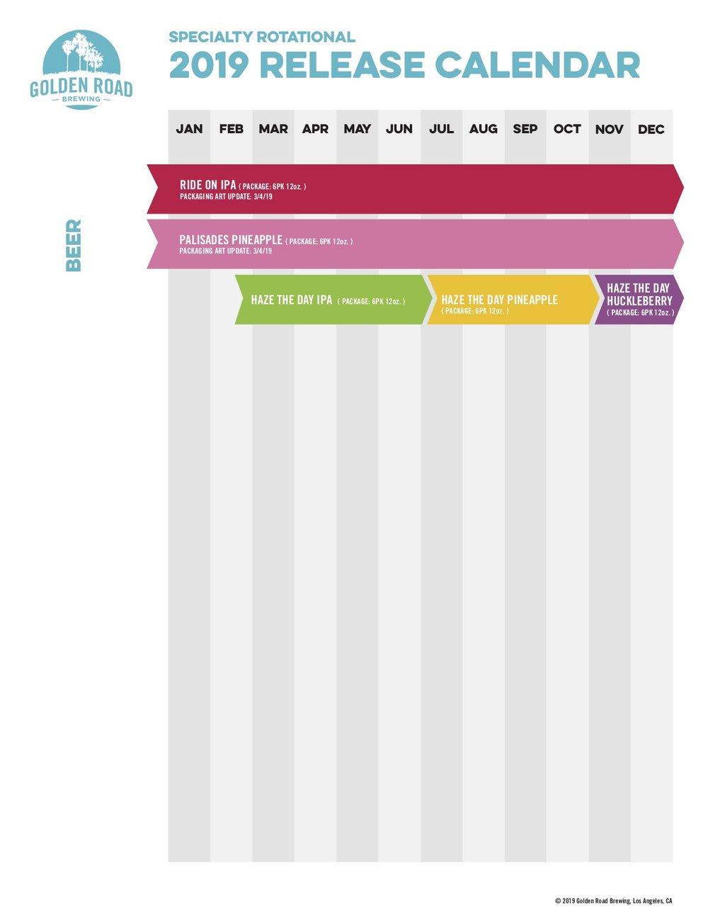 Specialty Rotational Calendar —   PDF