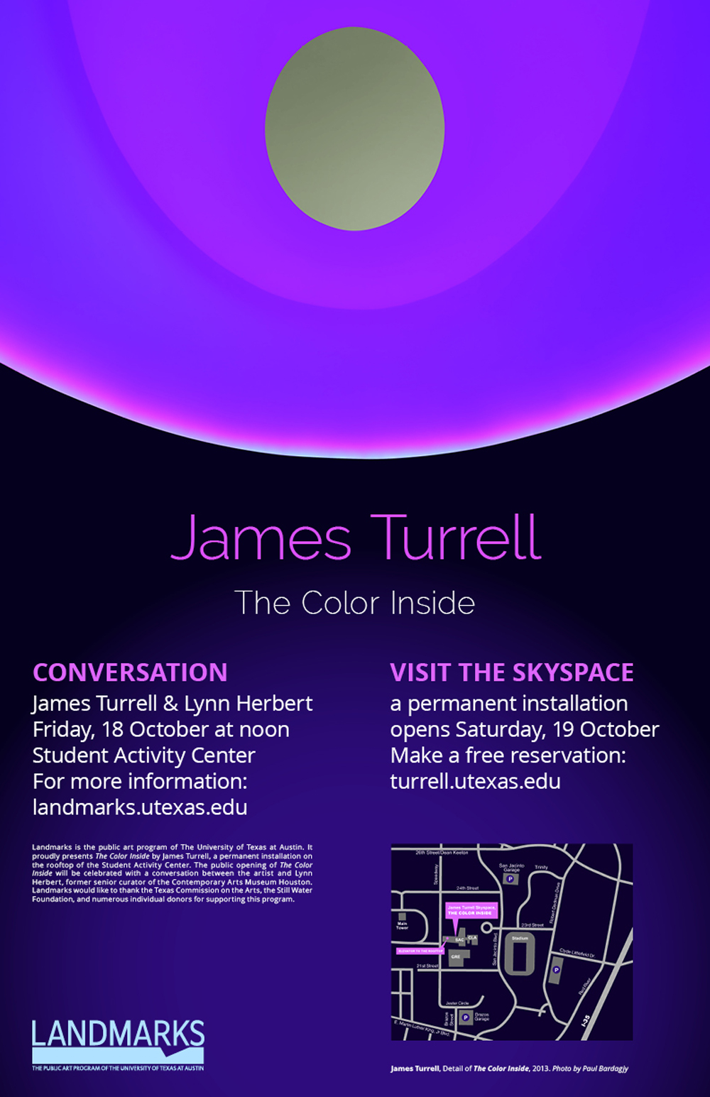 Landmarks Event, The Color Inside Conversation with James Turrell and Lynn Herbert, 2013