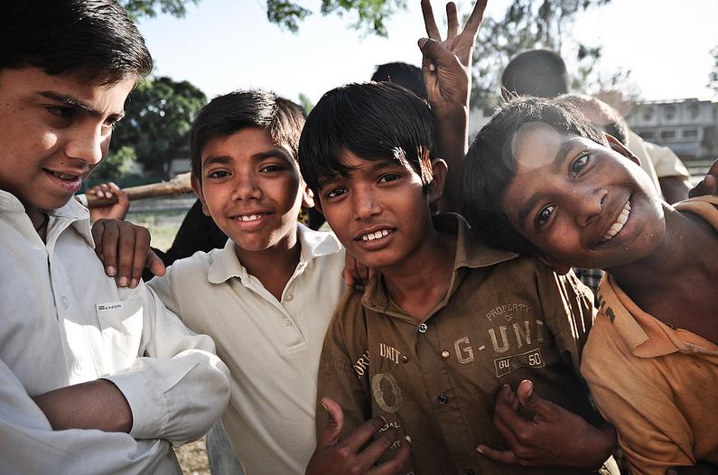 Niños de Pakistán.