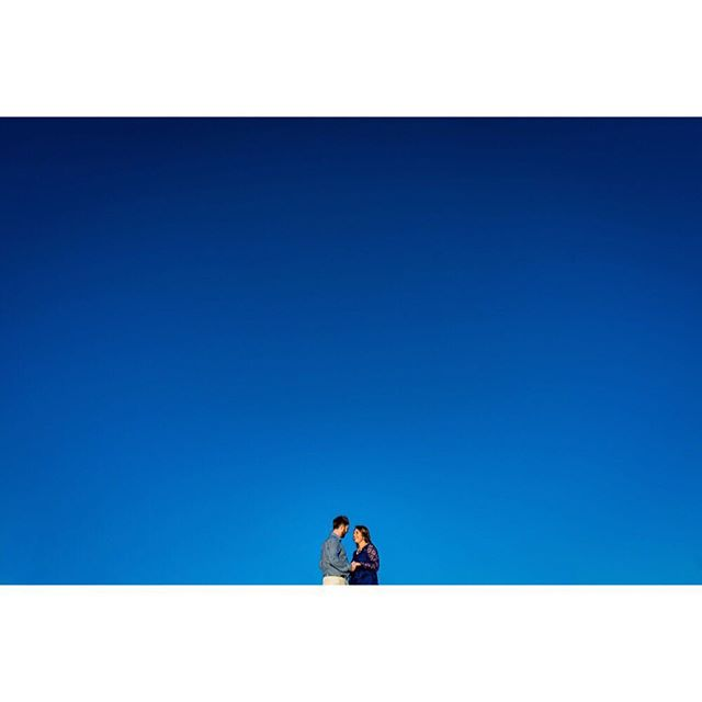 Blue skies, smilin' at me... Nothing but blue skies do I see... (See more from this engagement session on the blog - link in profile.)