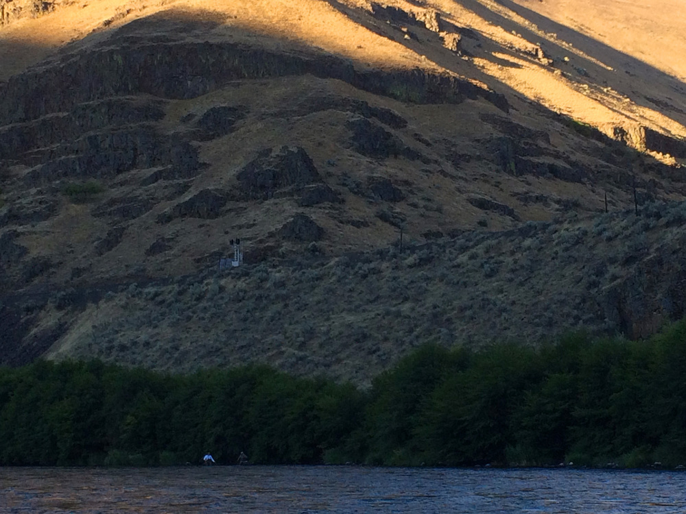 evening shade session on the Lower Deschutes
