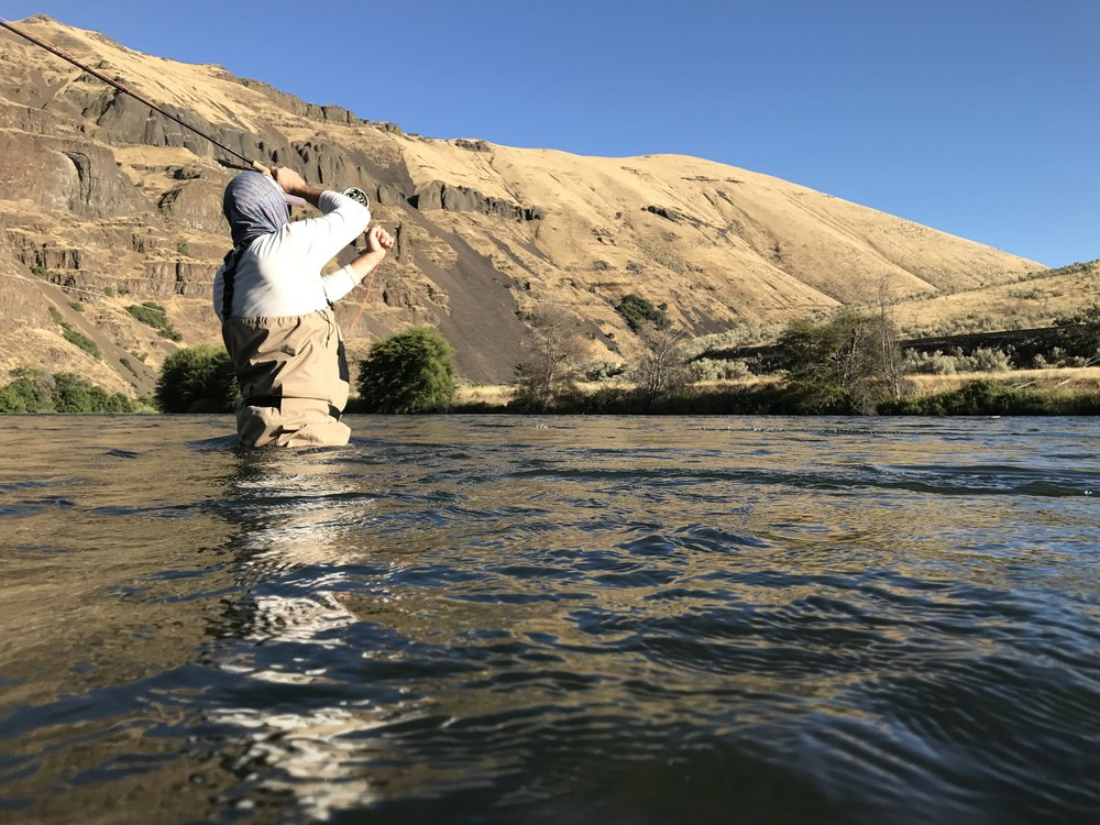 Spey casting on the Deschutes River