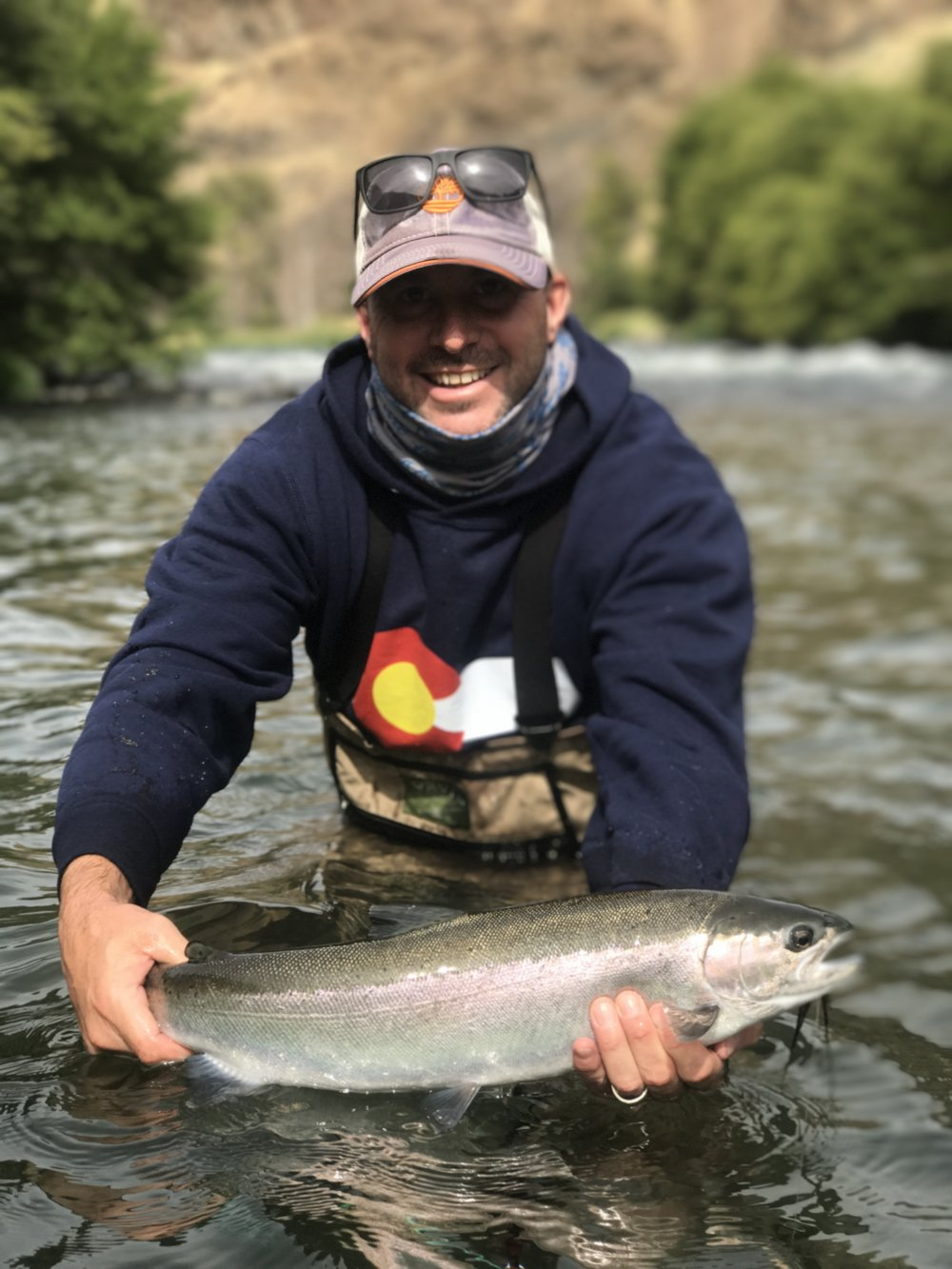 A buzzer beater steelhead, caught just before calling it a trip