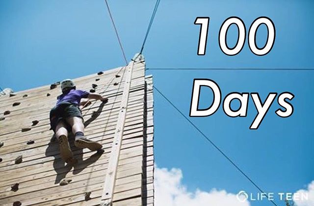 Can you believe there are only 100 DAYS until the first day of @lifeteen Summer Camp 2016? We can't wait to welcome home thousands of teens to Covecrest soon! #bestcampever