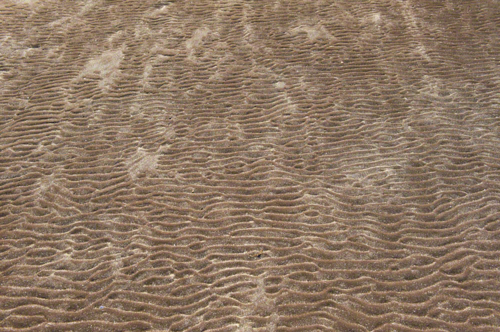 Ripples in the sand in the bay of Saksun