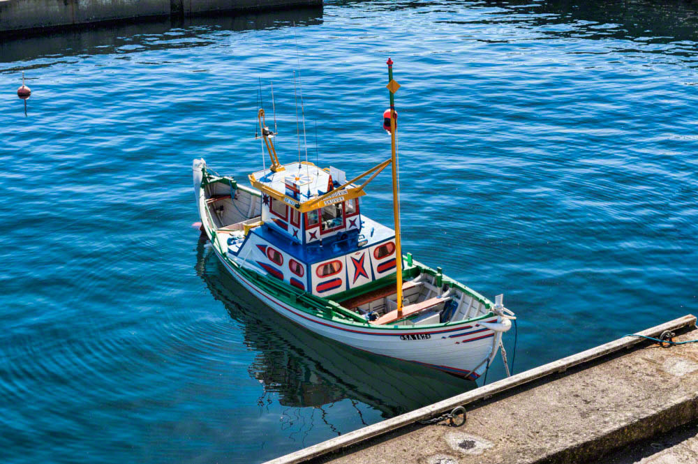 Traditional faroese fishing boat