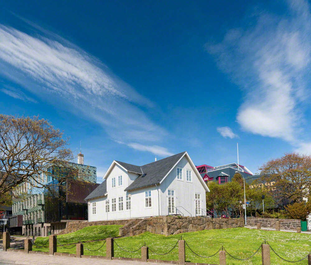 Parliament building in Torshavn