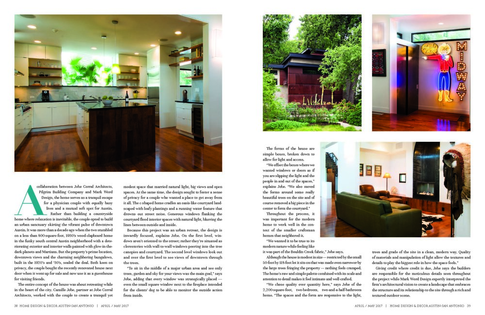 See One Of Our Projects In Home Design Decor Magazine Word