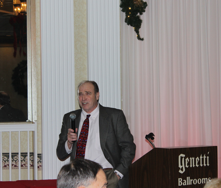 Wayne Michel, RBMN President, addressing the holiday party attendees about the railroad business in 2014