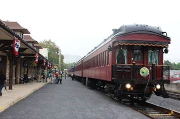 Reading and Northern Customer Appreciation Train Trip originated at Schuylkill Haven on Sept 14, 2017.