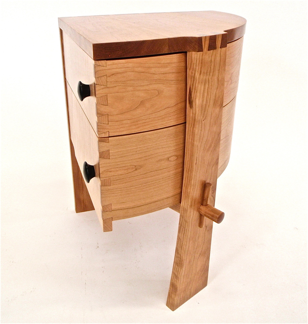 Rotating Bedside table side view