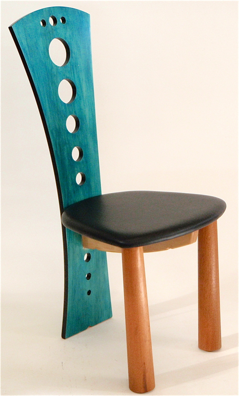 Curved-back chair