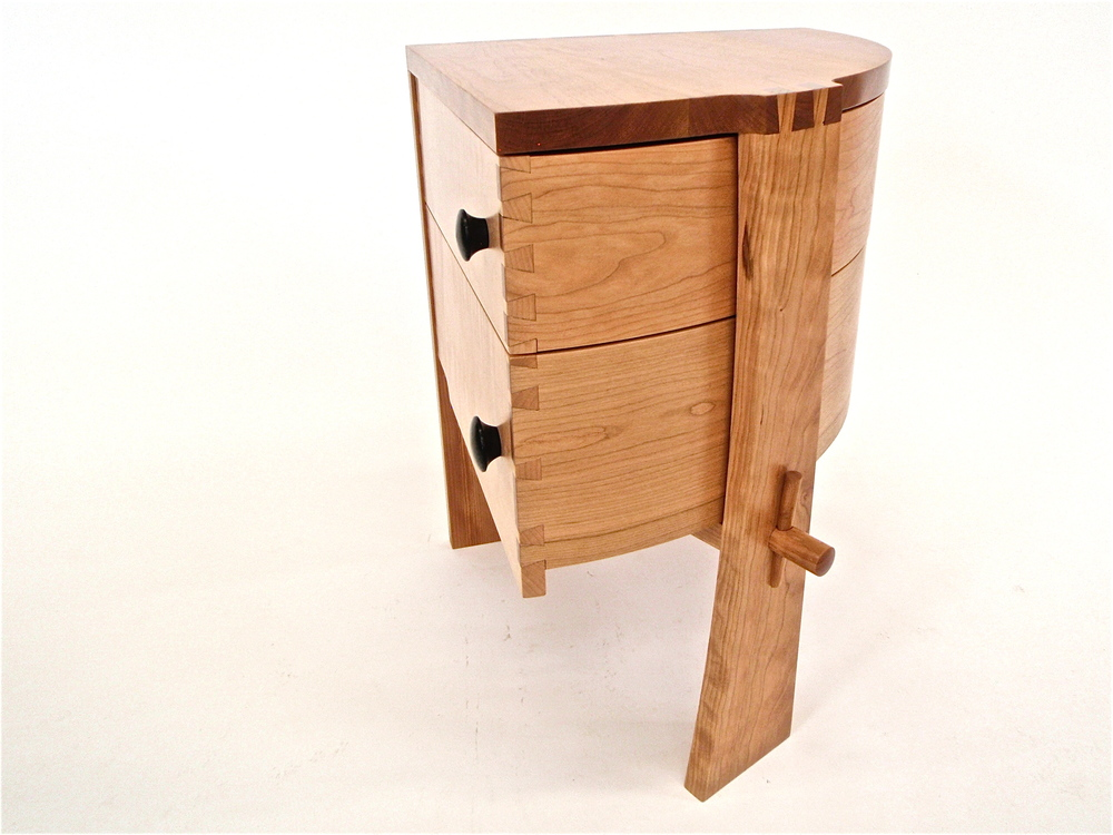 Rotating bedside table