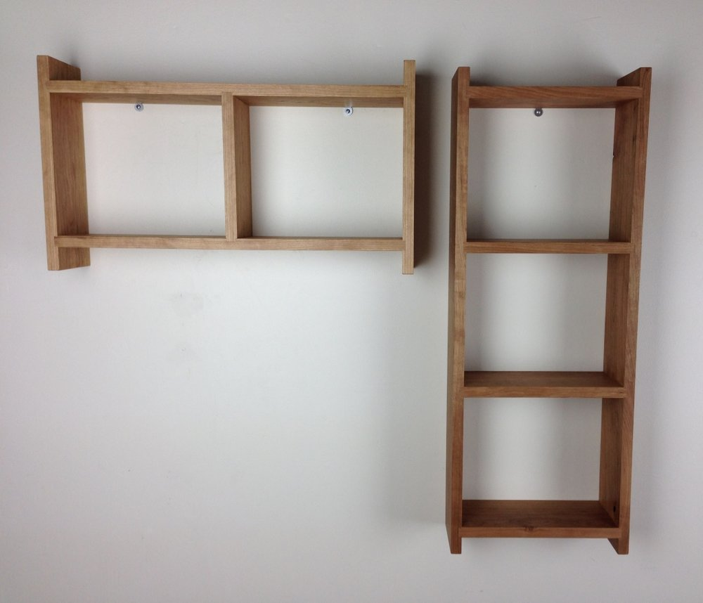 small horizontal & vertical bookshelf
