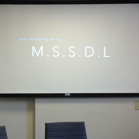 Here at Synapp.io, We All M.S.S.D.L.