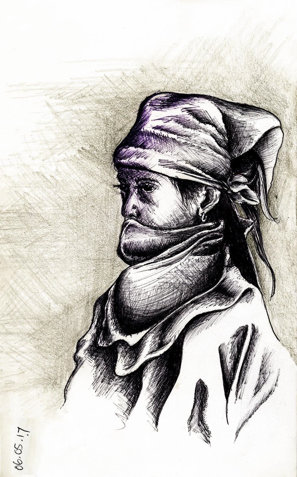 La Nina de la Resistencia  // Sketchbook // Pen