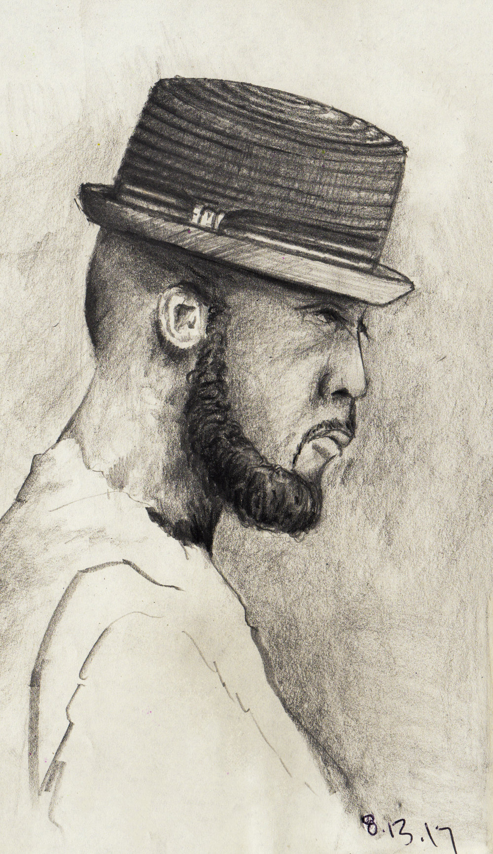 Man with a Hat   //  Sketchbook  //  Graphite