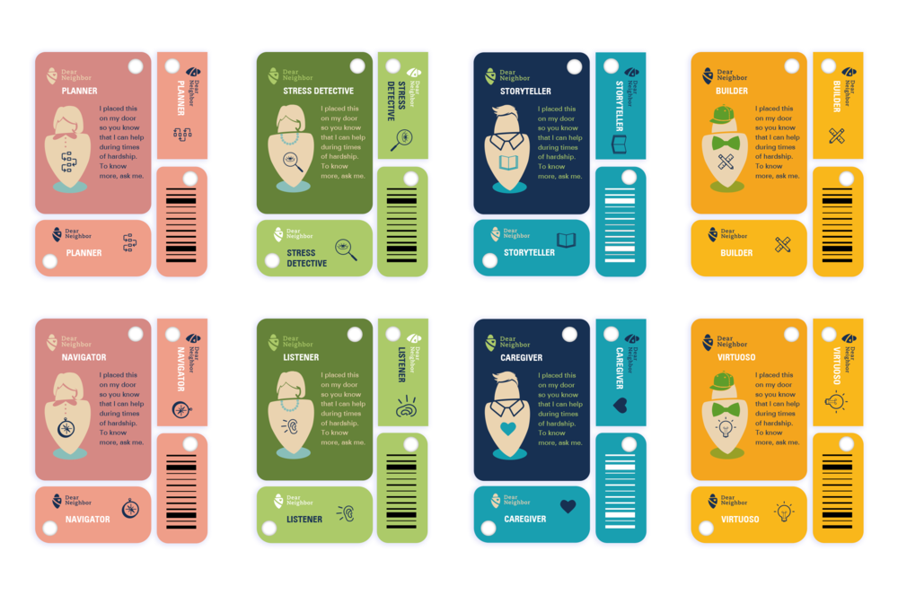 Badges   //  Personality card sets.