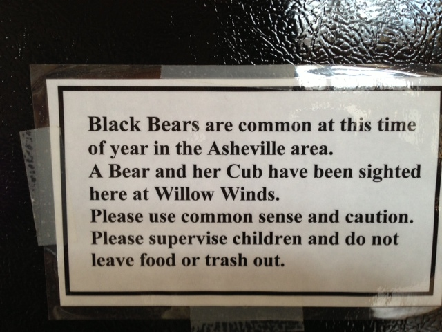 Back up Step 9. Watch out for bears? (definitely not in Atlanta anymore) - check