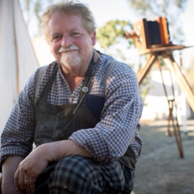 Collodian artist Will Dunniway tintypes with us this week on #snapshotsd #kpbd @timmantoani @cparkphoto #tintype #viewcamera