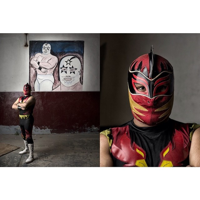 @timmantoani shoots #luchalibre on final season one episode of SnapShot on today at 4 on #kpbs.