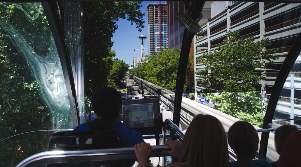 Monorail between Westlake Center and Seattle Square