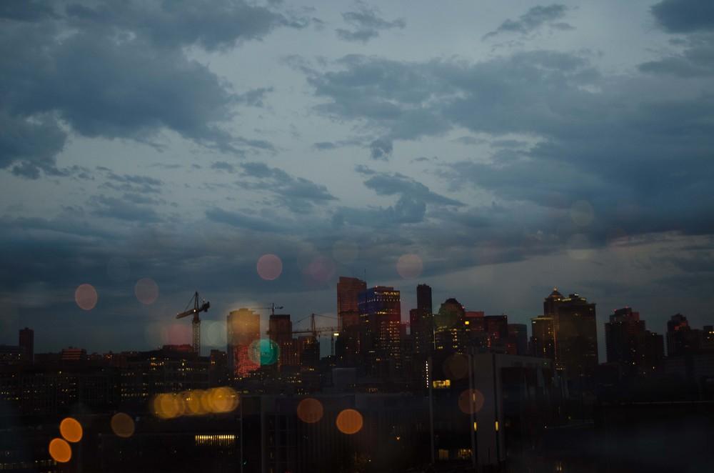 Double exposure of the skyline