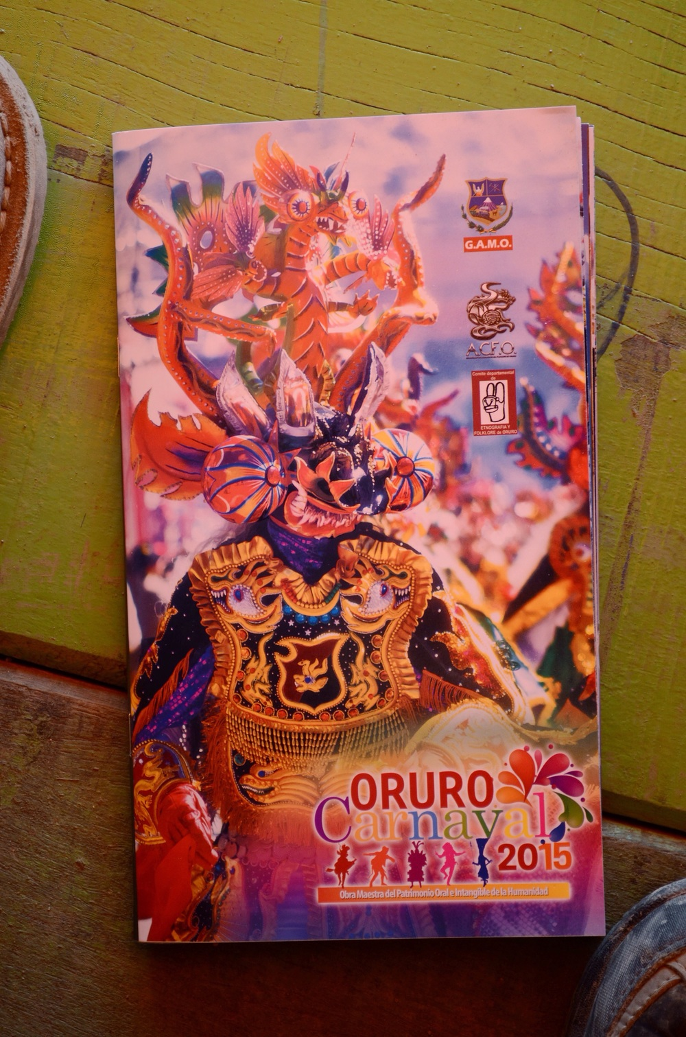 Official guide to Carnaval 2015 showing the Devil character // 15 february 2015
