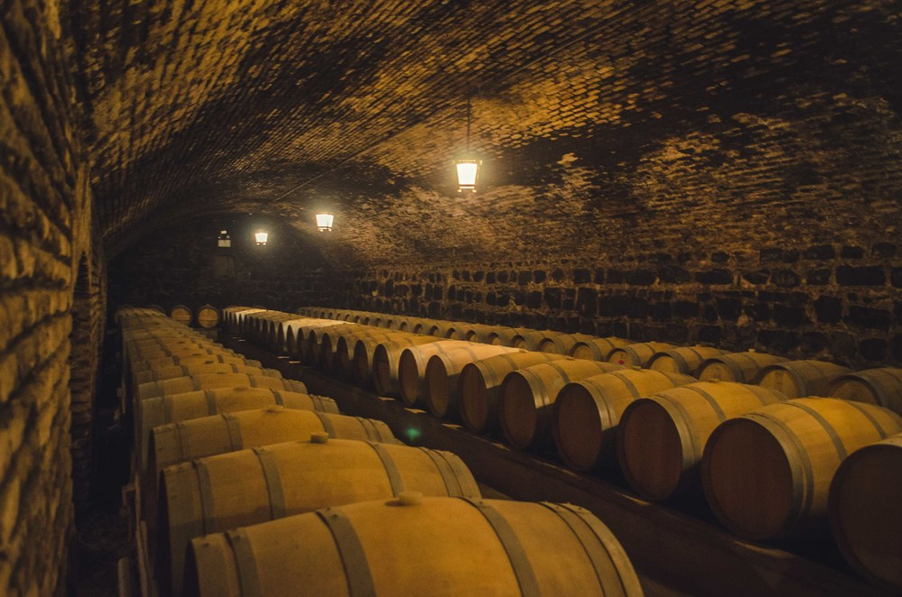 the devil's cellar, naturally climate controlled by being 4 meters underground, and humidity controlled by sprinkling water on the dirt paths