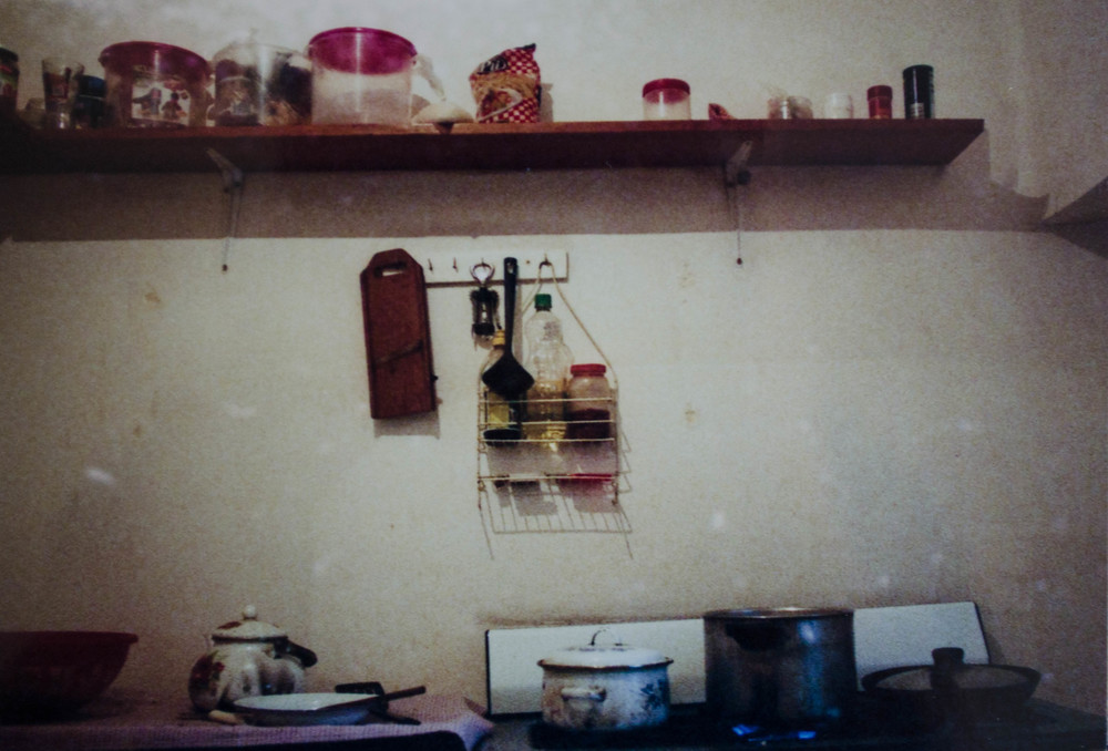 the kitchen at the HelpX farm in Vinto //february 2015