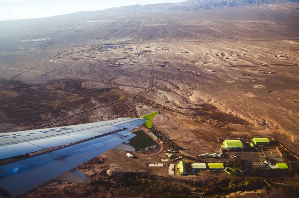 Landing in Calama, Atacama Desert