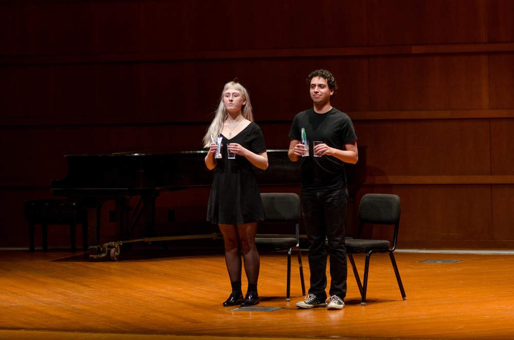 The grand finale of the showcase: Toothbrush Song (2016), composed and performed by Aaron Levin and Destini Powell