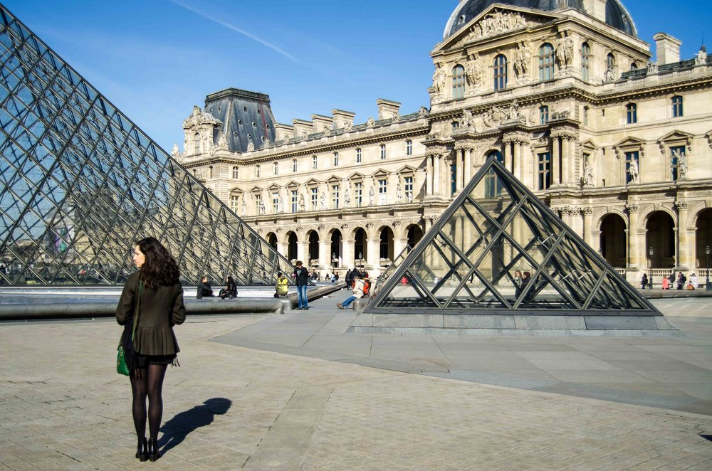 march 2 // plaza of the Piramide du Louvre