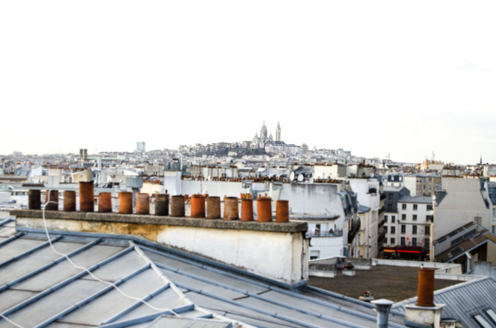 march 2 // view of Montmartre from the terrace