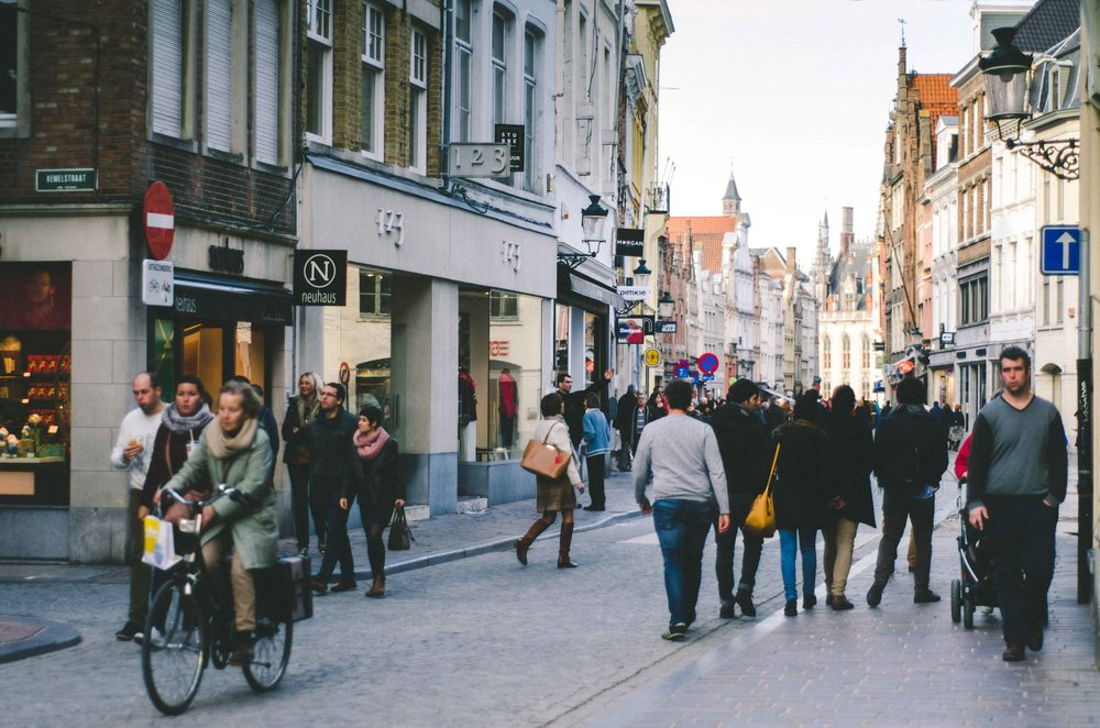 Bruges is definitely a tourist city in some parts