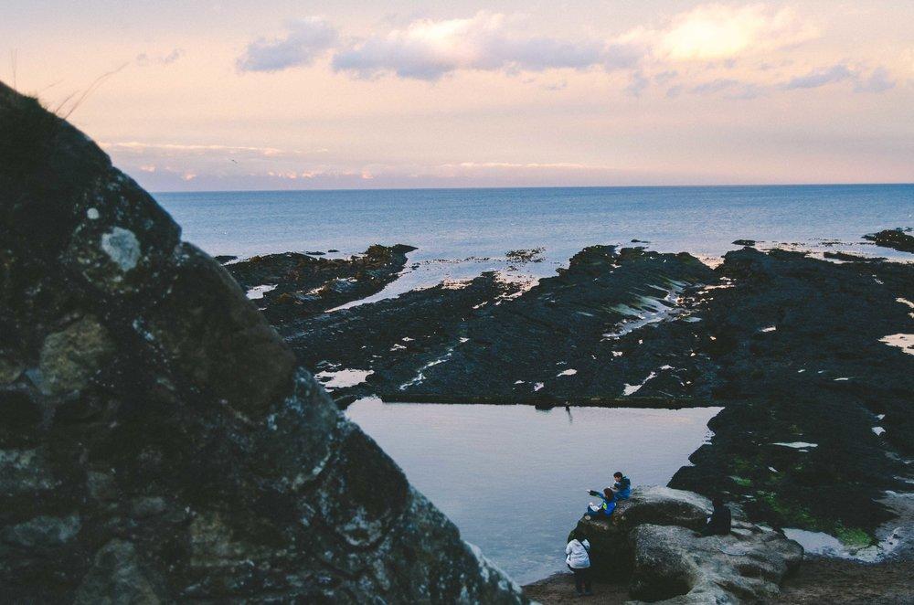 Dusk at the North Sea