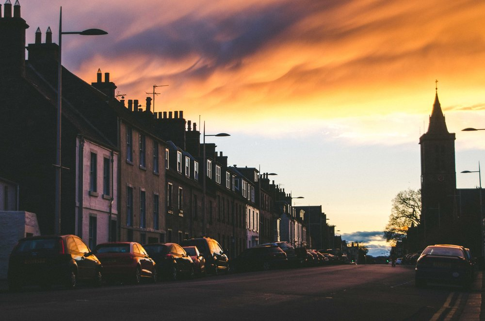 Sky on fire in St. Andrews