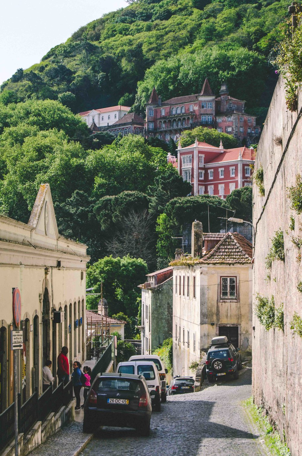 Winding streets of Sintra