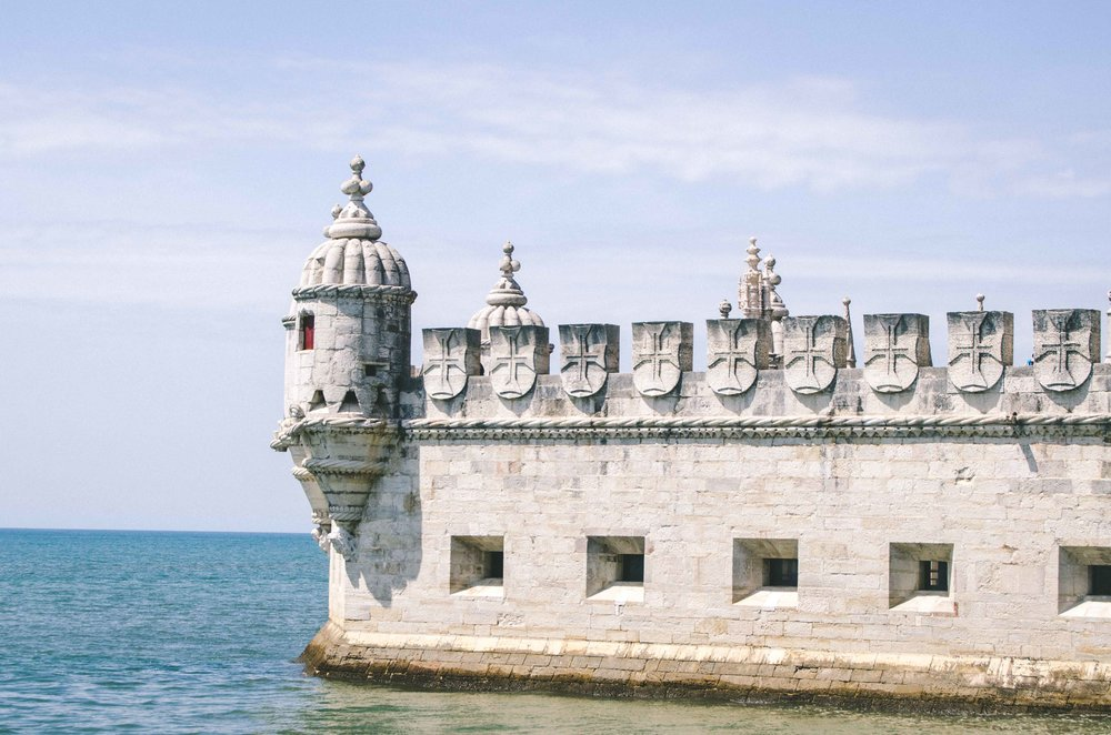 Torre de Belém,  a fortified tower from the medieval era. Actual tower not pictured.