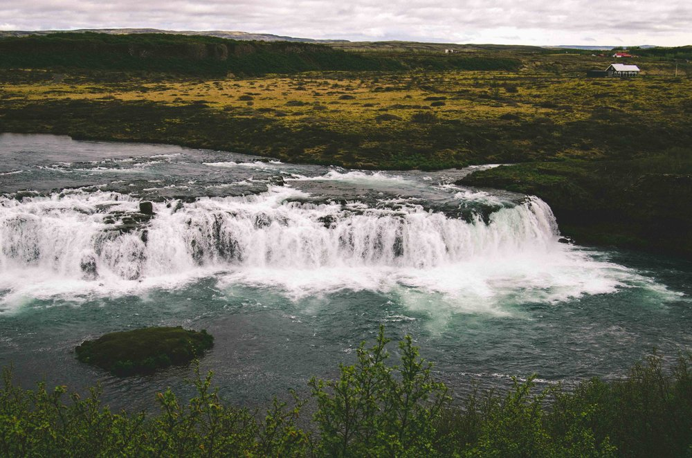 Waterfalls on the way back to Reykjavík that were not Gullfoss, but equally beautiful.