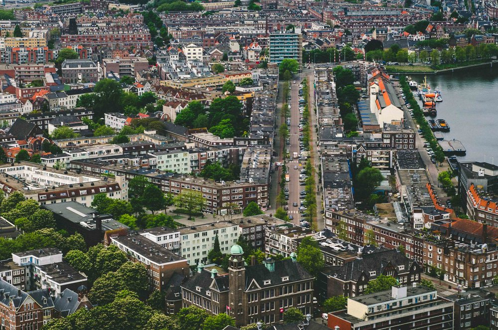 Rotterdam // View of the historic Delfshaven from the Euromast